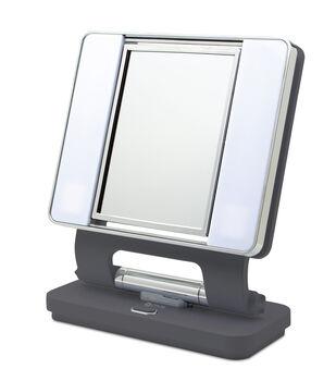 OttLite Lighting 26 W Dual-sided Natural Makeup Mirror-Dark Gray