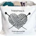 Fair Isle Yarn Canvas Project Bag-Happiness is Handmade