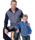 McCall\u0027s Pattern M7447 Men\u0027s/Boys\u0027 Button-Down Shirts with Hood/Collar