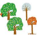 Big Seasonal Tree Bulletin Board Set