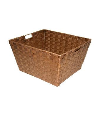 Organizing Essentials Paper Rope Basket-Brown