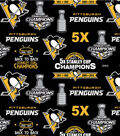 Pittsburgh Penguins Fleece Fabric -Stanley Cup
