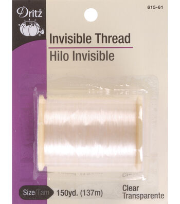 Dritz Invisible Thread 150 Yards-Clear & Smoke