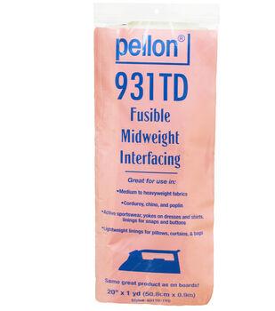 Pellon 931TD Fusible Midweight Interfacing 20''x1 yd