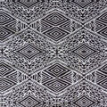 Cotton Shirting Fabric-Black & White Global Diamonds