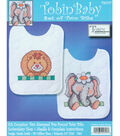 Tobin Baby Stamped Cross Stitch Noah\u0027s Ark Bibs