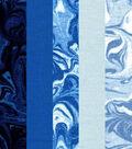Pre-Cut Quilt Fabrics 18\u0022x21\u0022-Blue Oil Slick