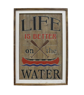 Camp Ann Vertical Wall Decor-Life is Better on the Water