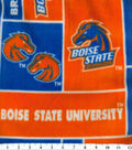 Boise State University Broncos Fleece Fabric -Block