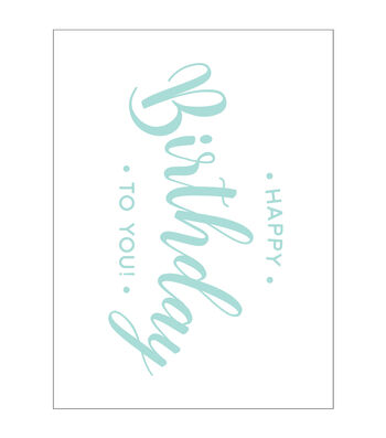 Park Lane A2 Embossing Folder-Happy Birthday To You! Script
