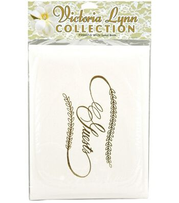 Darice Wedding Guest Book-White W/Gold Lettering