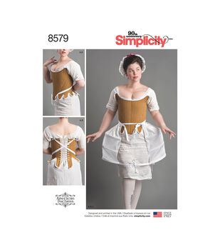 Simplicity Pattern 8579 Misses' 18th Century Costume-Size R5 (14-22)