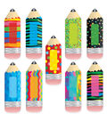 Poppin Patterns Pencils 6In Designer Cut Outs 108/pk, Set of 4 Packs