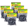 Black with White Paw Prints Wristbands, 10 Per Pack, 6 Packs
