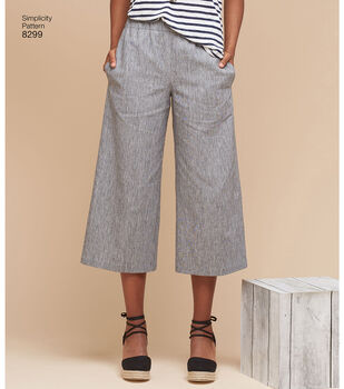 Simplicity Pattern 8299 Misses' Skirts or Pants-Size H5 (6-8-10-12-14)