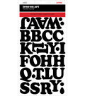 SEI 2 pk Chunky Letter Iron-on Art Flocked Transfer Sheets-Black