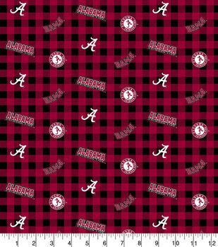 Alabama Crimson Tide Flannel Fabric-Checks