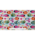 Anti-Pill Fleece Fabric -Tropical Fish