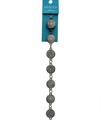 hildie & jo Strung Beads-Crystal Glass Rhinestones in Metal