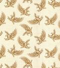 Patriotic Cotton Fabric-Eagles on Parchement