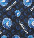 Minnesota Timberwolves Fleece Fabric 58\u0022-Logo Toss