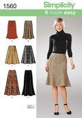 Simplicity Pattern 1560R5 14-16-18-2-Misses Skirts Pants