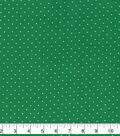 Keepsake Calico Cotton Fabric 43\u0022-Green Simple Pin Dots