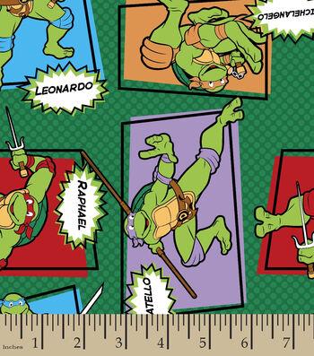 Teenage Mutant Ninja Turtles Patch Flannel Fabric