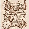 Inkadinkado Rubber Stamp-Time Flies Collage