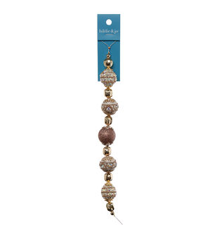 hildie & jo 7'' Strung Beads-Shine Gold
