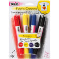 Tulip Fabric Color Crayons 4/Pkg-Primary