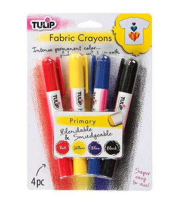 Tulip Fabric Color Crayons 4/Pkg-Primary