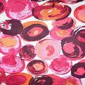 Fast Fashion Rayon Spandex Fabric-Coral Abstract Dots