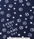 Blizzard Fleece Fabric -Game Day
