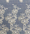 Scalloped Cotton Apparel Fabric 51\u0027\u0027-Blue & White Mini Stripes