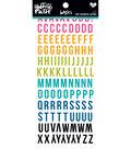 Illustrated Faith Basics 6 pk Clear Sticker Booklet-Tiny Colorful Alphas