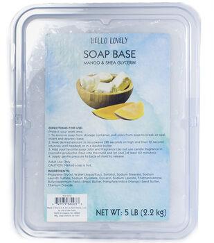Life of the Party Hello Lovely Mango & Shea Glycerin Beauty Soap Brick