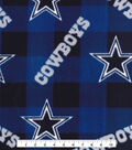 Dallas Cowboys Fleece Fabric -Buffalo Plaid