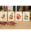 4 Seasons Miniatures On Aida Counted Cross Stitch Kit 18 Count