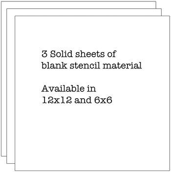 """Crafter's Workshop Templates Stencil Sheets 12"""" x 12"""""""