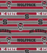 "North Carolina State Wolfpack Fleece Fabric 58""-Polo Stripe, , hi-res"