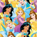 Disney Princesses Cotton Fabric -Multi Princess Packed