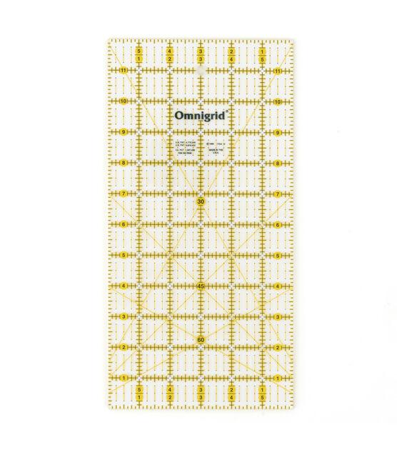 """Omnigrid Quilter/'s Ruler 6/""""X12/"""" 762511100128"""