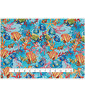 Novelty Cotton Fabric 43\u0027\u0027-Tropical Fish & Coral