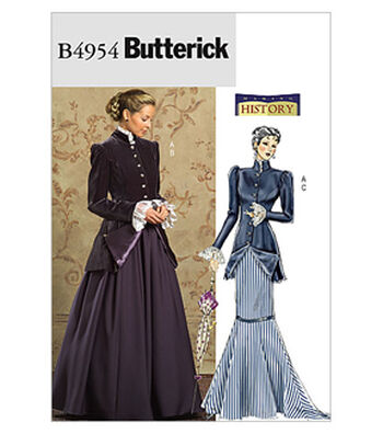 Butterick Pattern B4954-Early 20th-Century Jacket and Skirts