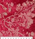 Metallic Velvet Burnout Fabric-Tango Red