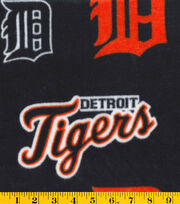 Detroit Tigers Fleece Fabric -Logo, , hi-res