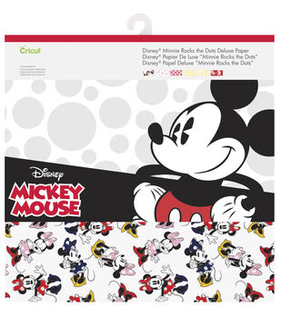 Cricut 12 Pack Disney Minnie Rocks The Dots Deluxe Papers