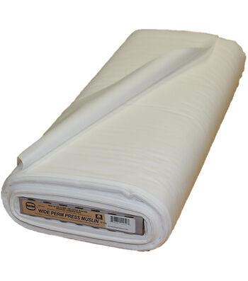 Roc-lon Wide Permanent Press Bleached Cotton Muslin 90''x15 yds
