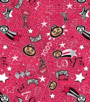 "Ohio State University Buckeyes Jersey Knit Fabric 58""-Spirit, , hi-res"